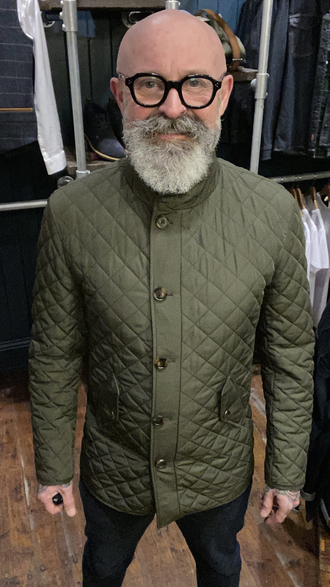 Skopes Pembridge Olive Quilted Coat S