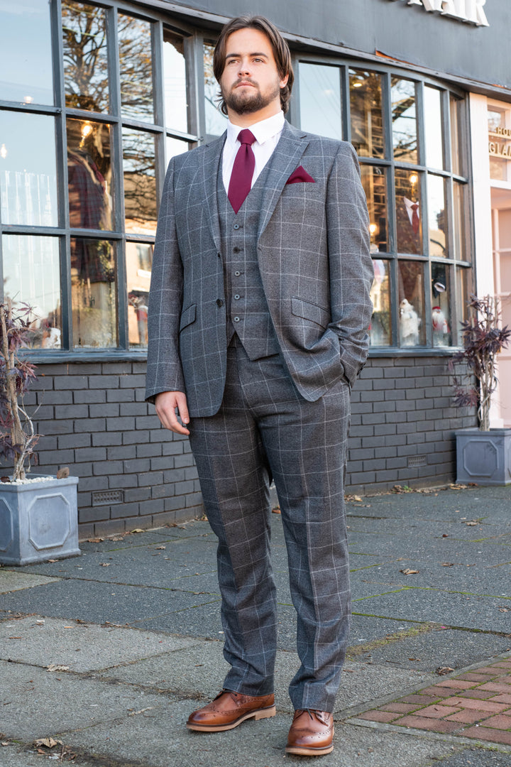 Skopes Tudhope Charcoal 3 Piece Suit skopes-tudhope-charcoal-check-blazer / skopes-tudhope-charcoal-check-single-breasted-waistcoat / skopes-tudhope-charcoal-check-tailored-fit-trousers