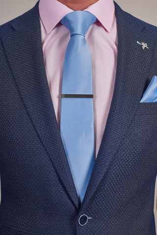 Cavani Sky Blue Plain Tie, Pocket Square & Tie Clip Set £12.99