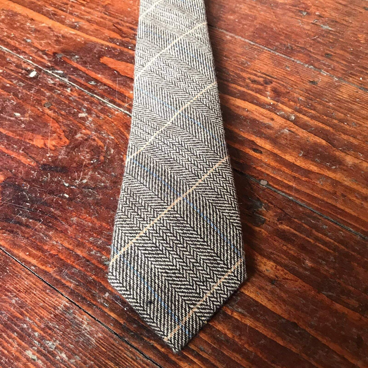 Marc Darcy Ted Tan Tweed Style Check Tie £20.00