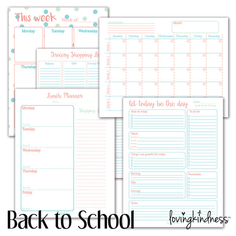 Back to School Planning Packet 2