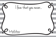 I love that you never...
