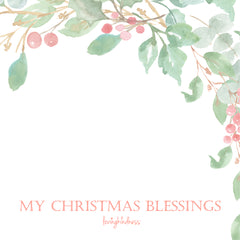 My Christmas Blessings - Berries - Square