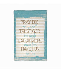 Pray Big, Trust God Towel