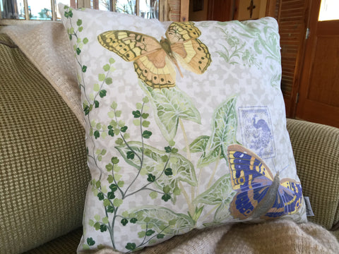 Fern & Butterflies Pillow