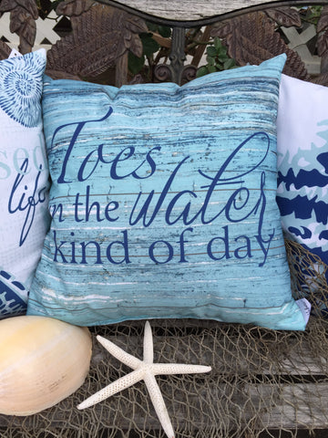 Toes in the Water Pillow