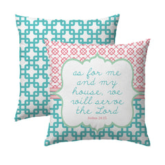 Joshua 24.15 Garden Links Pillow