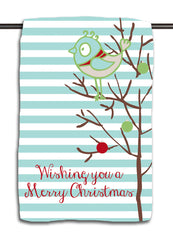 Retro Bird Christmas Towel