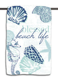Blessed Beach Life Navy Towel