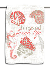 Blessed Beach Life Coral Towel