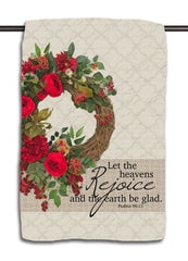 Christmas Rose Wreath - Diamond Towel