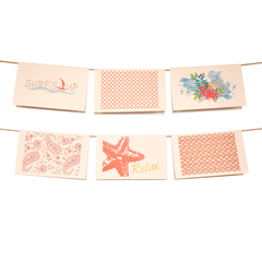 Coral Coastal Collection Stationery Set of 6 - lovingkindness - 1