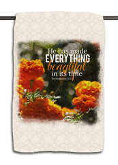 He Makes All Things Beautiful Towel - Ecclesiastes 3.11 Flowers Towel