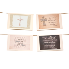 Words of Faith & Inspiration Stationery Set of 8 - Black - lovingkindness - 1