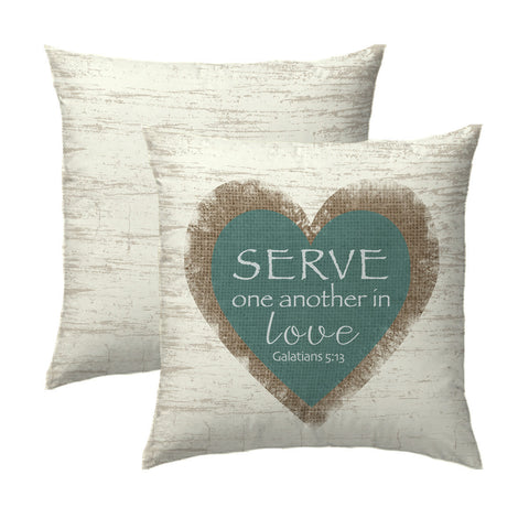 Serve in Love Pillow
