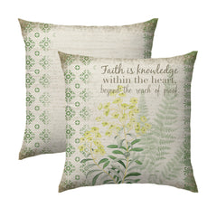 Faith is Knowledge Pillow