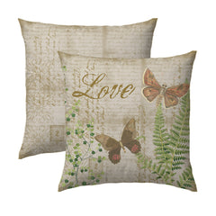 Love Butterflies & Fern Pillow