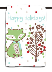 Fox Happy Holidays Towel