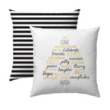 Words of Christmas B&G Pillow