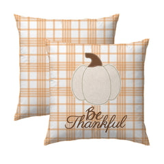 Be Thankful Pumpkin Pillow