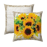 Sunflower Bunch - Harvest Border Pillow
