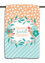 Home Sweet Home Aqua Towel