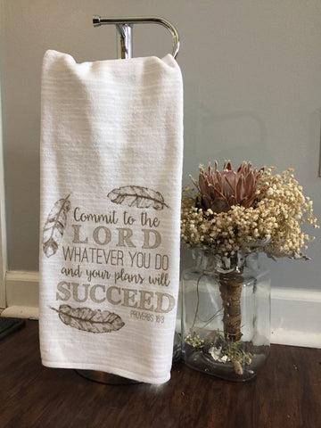 Proverbs 16.3 Tribal Towel