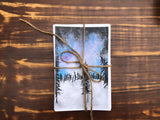 Starry Winters Night - Set of 4 note cards - 5-1/2 x 8-1/2 - Envelopes Included