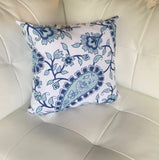 Paisley Ikat Navy Pillow