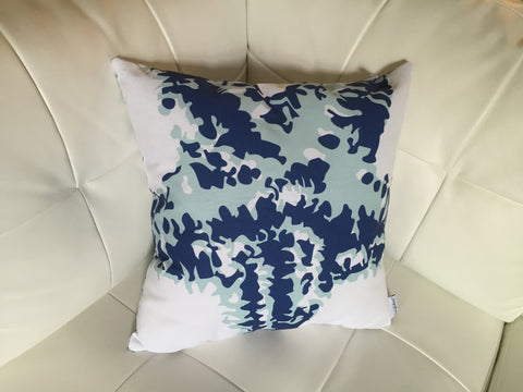 Navy Starfish Silhouette Clover Pillow