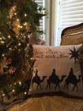 Wise Men Vintage Textures Pillow