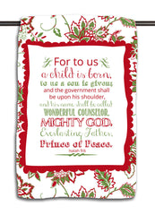 Isaiah 9.6 Holiday Jacobean Towel