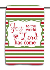 Joy to the World R&G Stripes Towel