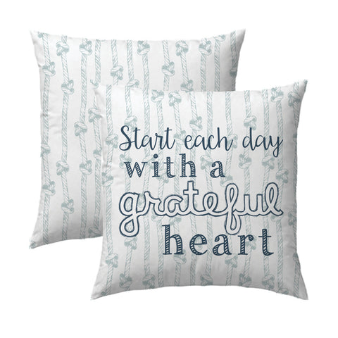 Grateful Heart Knots Pillow