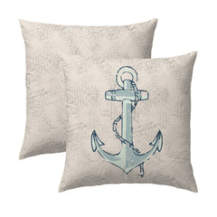 Lake Anchor Nautical Pillow