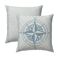Lake Compass Lake Locks Pillow