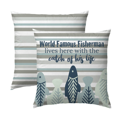 World Famous Fisherman Stripe Pillow