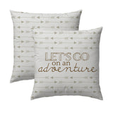 Let's Go on an Adventure - Arrow Pillow