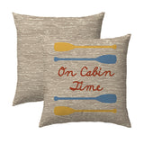On Cabin Time Woodgrain Pillow