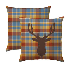 Plaid Deer Pillow