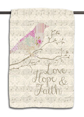Love Hope & Faith Patchwork Towel