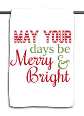 Merry & Bright Red & Green Towel