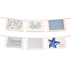 Navy Coastal Collection Stationery Set of 6 - lovingkindness - 1