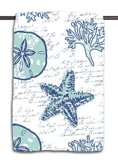 Shell Writing Navy Towel