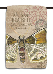 Neutral Butterfly Towel | 1 John 4.19
