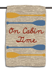 On Cabin Time Woodgrain Towel