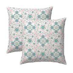 Pink Garden Medallion Pillow
