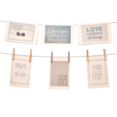 Words of Love Stationery Set of 6 - Blue - lovingkindness - 1