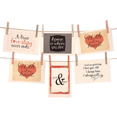 Words of Love Stationery Set of 6 - Red - lovingkindness - 1