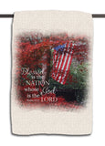 Psalm 33.12 Flag Towel